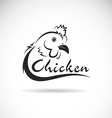 design chicken is text vector image