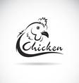 design chicken is text vector image vector image