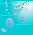 easter sale background template vector image vector image