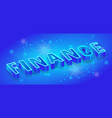 finance isometric banner template neon vector image vector image