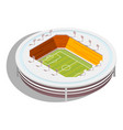 football stadium isometric vector image vector image