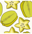 Fruit seamless pattern with green caram vector image vector image