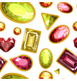 gems and diamonds precious stones seamless vector image vector image