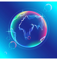 Globe color abstract vector image vector image