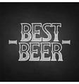 graphic best beer vector image