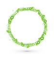 green floral frame circle vector image vector image