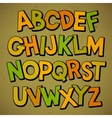 Hand drawn cartoon doodle font vector image