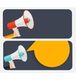 Hand with Megaphone and Speech Bubble vector image vector image