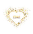 heart glitter frame with space for text golden vector image vector image