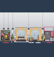 home gym concept flat vector image vector image