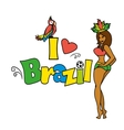 I love Brazil illutration vector image vector image