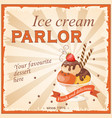 ice cream parlor vector image vector image