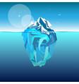 iceberg in ocean water vector image vector image