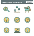 Icons line set premium quality of search engine vector image vector image