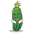 in love cucumber character cartoon collection vector image
