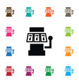 isolated slot machine icon 777 element can vector image vector image