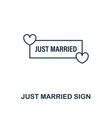 just married sign outline icon premium style vector image