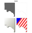 Lassen County California outline map set vector image vector image
