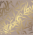 luxury golden pattern with branches on a brown vector image vector image