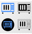 microwave oven eps icon with contour vector image vector image