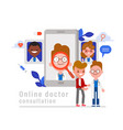 online medical consultation concept patient vector image vector image