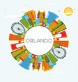 orlando florida city skyline with color buildings vector image vector image