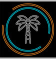 palm tree - travel icon vector image vector image