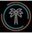 palm tree - travel icon vector image