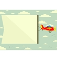 Plane with Banner vector image vector image