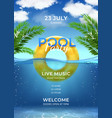 pool party summer swimming party invitation vector image