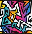 rainbow geometric seamless pattern vector image vector image