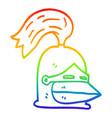 rainbow gradient line drawing cartoon golden vector image vector image