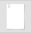 realistic blank paper sheet in a4 format