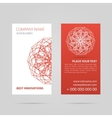 Red business card with mandala vector image vector image