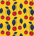 red cherry background pattern vector image vector image