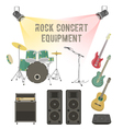 Rock concert equipment vector image