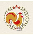 rooster icon of chinese calendar vector image