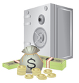 safe and money vector image