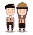 scout boy and scout girl children scout adventure vector image vector image