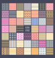set 48 ethnic seamless patterns vector image
