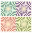 set circus graphic radius effects retro green vector image