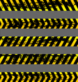 set grunge yellow caution tapes vector image vector image