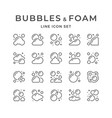 set line icons bubbles and foam vector image vector image