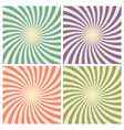 set of circus graphic radius effects retro green vector image