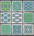 set of complex hand-drawn ornaments vector image vector image