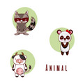 set of cute animals cartoons