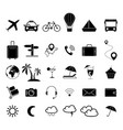 set of travel black icons vector image
