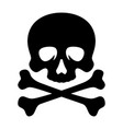 skull and bones 001 vector image vector image