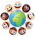 Small world people united vector image vector image
