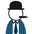 Smoking Man vector image vector image